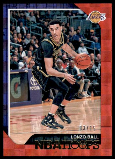 2018-19 Hoops Red Checkerboard #165 Lonzo Ball /15