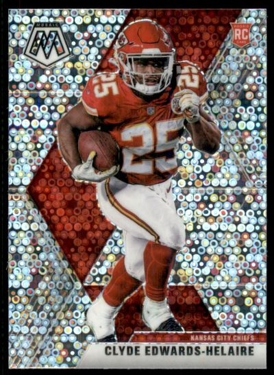 2020 Panini Mosaic No Huddle Silver #212 Clyde Edwards-Helaire RC