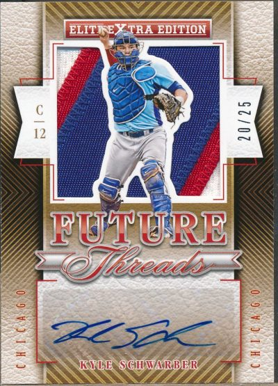 2015 Elite Extra Edition Future Threads Silhouette Prime #2 Kyle Schwarber /25