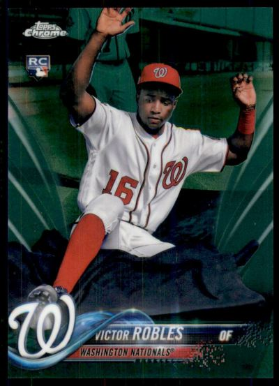 2018 Topps Chrome Green Refractors #175 Victor Robles RC /99