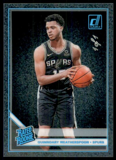 2019-20 Clearly Donruss Holo Platinum #93 Quinndary Weatherspoon RC /1