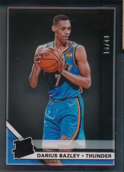 2019-20 Clearly Donruss Red #99 Darius Bazley RC /49