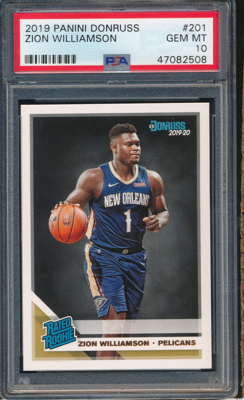 2019 Donruss #201 Zion Williamson RC PSA 10
