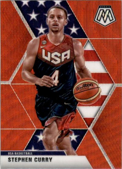 2019-20 Panini Mosaic Red Wave #260 Stephen Curry