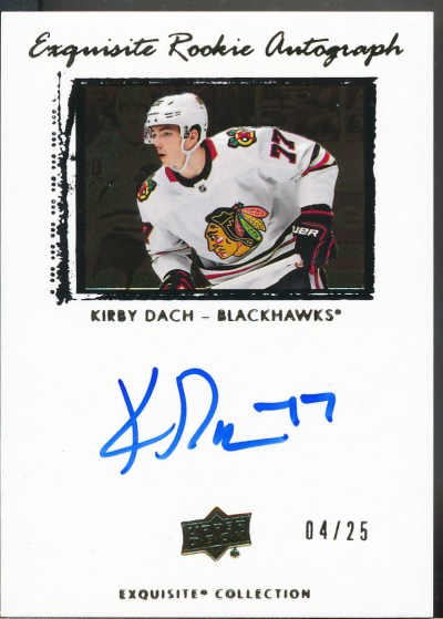 2019-20 Exquisite '09-10 Rookie Tribute Autographs Gold #KD Kirby Dach Auto /25