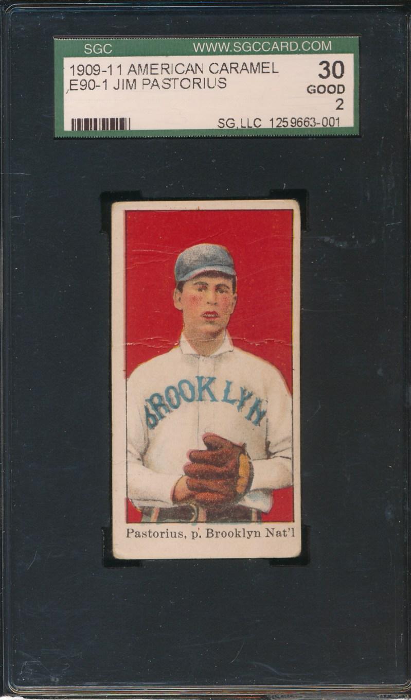 1909-11 American Caramel Jim Pastorius SGC 30