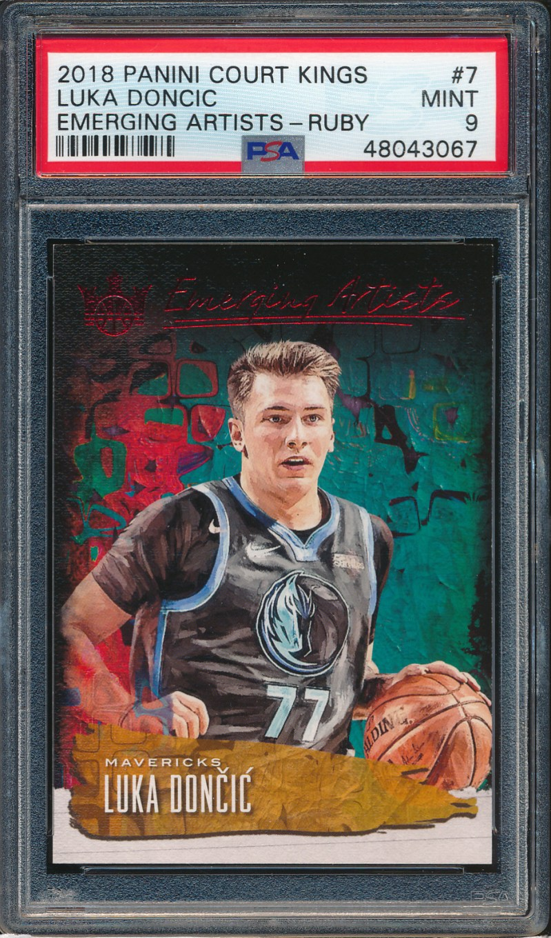 2018 Court Kings Emerging Artists Ruby #7 Luka Doncic RC 26/99 PSA 9