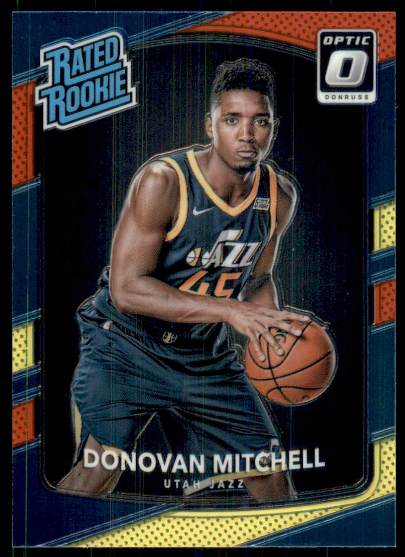 2017-18 Donruss Optic Mega Box Rated Rookie Red Yellow #188 Donovan Mitchell RC