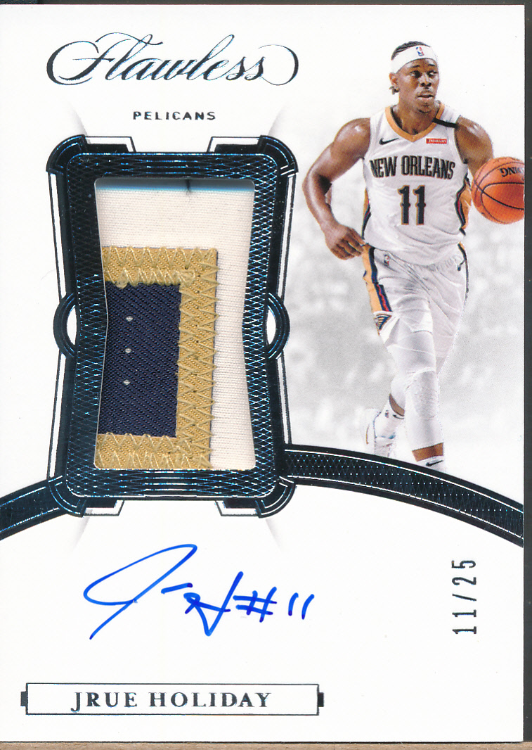 2019-20 Flawless Vertical Patch Auto #JHD Jrue Holiday Auto Jsy /25