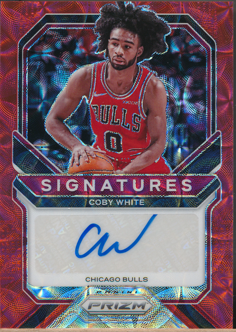 2020-21 Panini Prizm Signatures Choice Red #CWT Coby White Auto