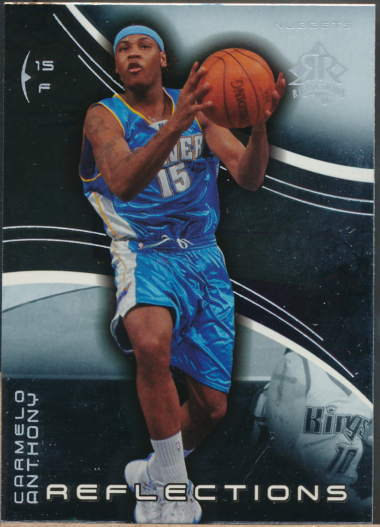 2003-04 Upper Deck Triple Dimensions Reflections #17 Carmelo Anthony RC