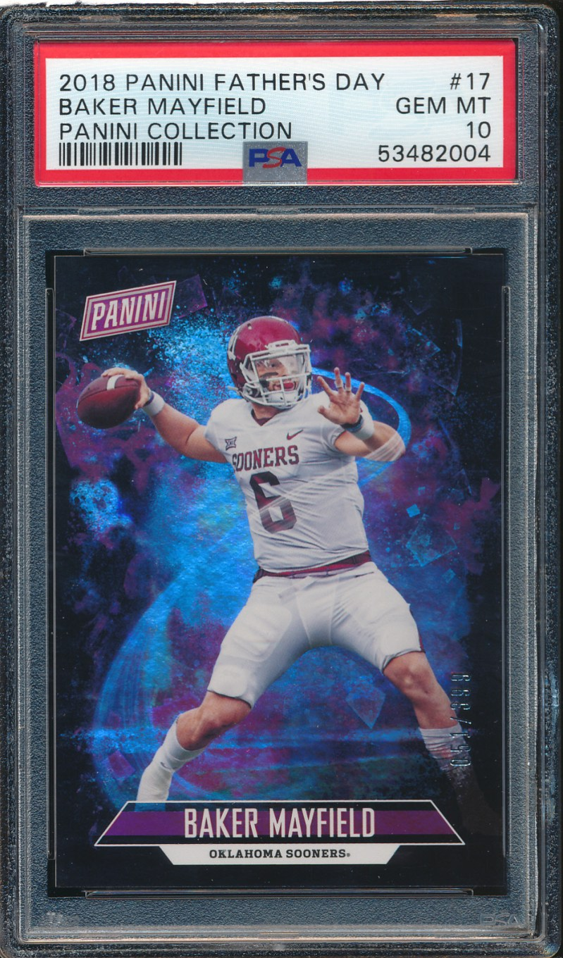 2018 Panini Father's Day #17 Baker Mayfield 51/399 PSA 10