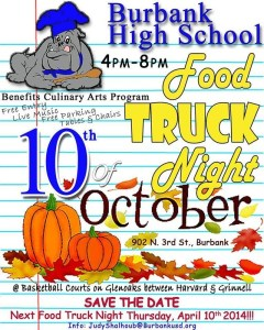 Burbank High School Food Truck Night This Thursday!