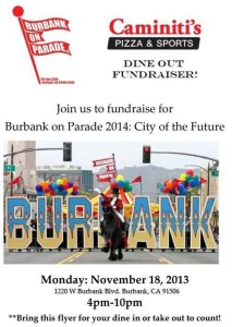 Burbank On Parade Fundraiser Tonight At Caminiti's!