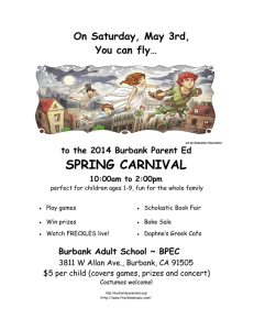 Burbank Parent Ed Spring Carnival May 3rd!