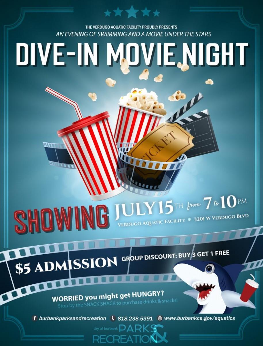 Summer dive in movie at verdugo pool burbank mom - Dive in movie ...