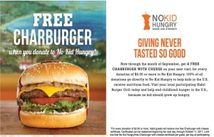 'The Habit' Is Continuing To Support Childhood Hunger And With A Donation, You Can Get A Free Charburger!
