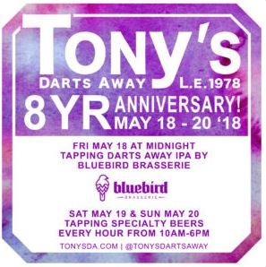Tony's Darts Away 8th Anniversary Party @ Tony's Darts Away | Burbank | California | United States