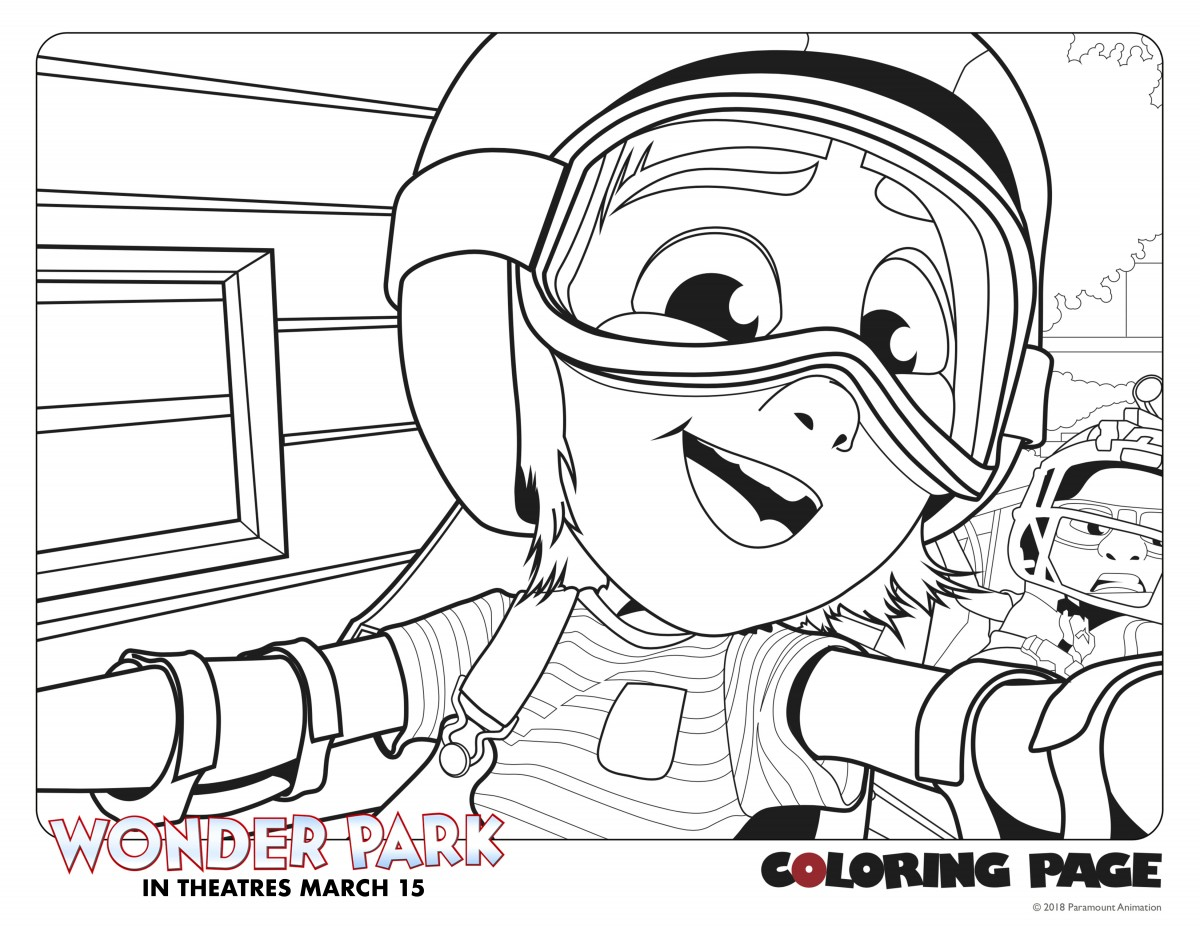 Downloadable Coloring Pages For 'Wonder Park' In Theaters