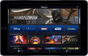 Cell Phone Image of Disney+ Streaming