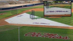 batting practice zone infield turf protector