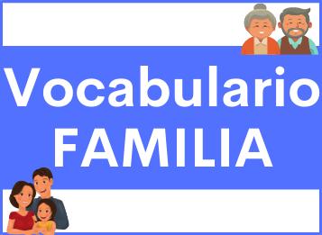 Vocabulario familia español