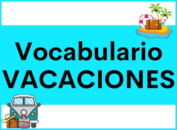 Vocabulario léxico vacaciones español