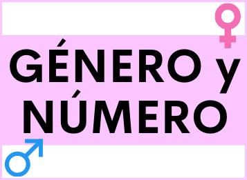 Género y número español