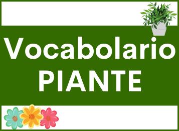 Vocabolario lessico piante spagnolo