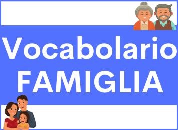 Vocabolario famiglia spagnolo