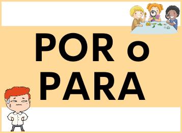 Preposiciones por y para en español