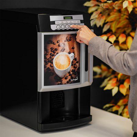 Máquina de café Burbujeo en el trabajo