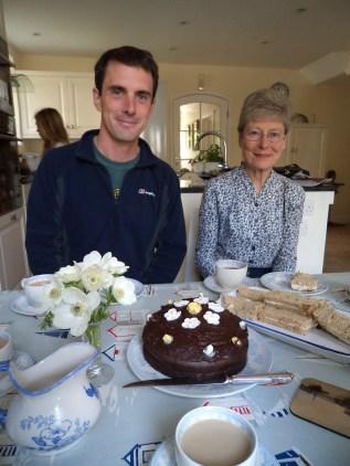 Birthday tea at Mum's