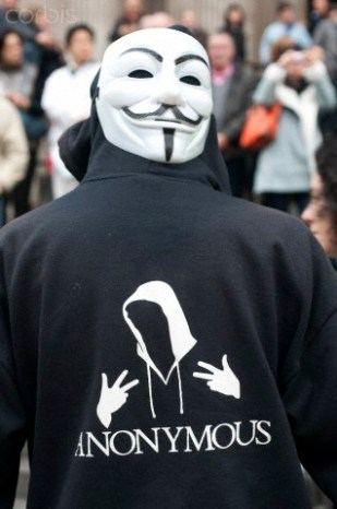 UK - Occupy London - Guy Fawkes mask of Anonymous UK
