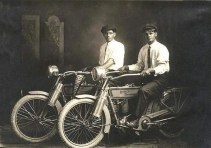 William Harley and Arthur Davidson, 1914 -- The Founders of Harley Davidson Motorcycles