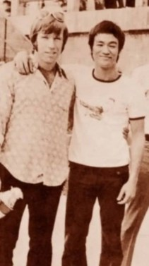 Chuck Norris and Bruce Lee