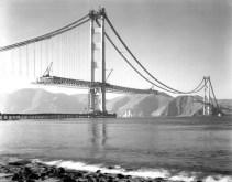 Golden Gate bridge construction - 1937