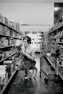 Audrey Hepburn shopping with her pet deer, Ip, in Beverly Hills, CA (1958)