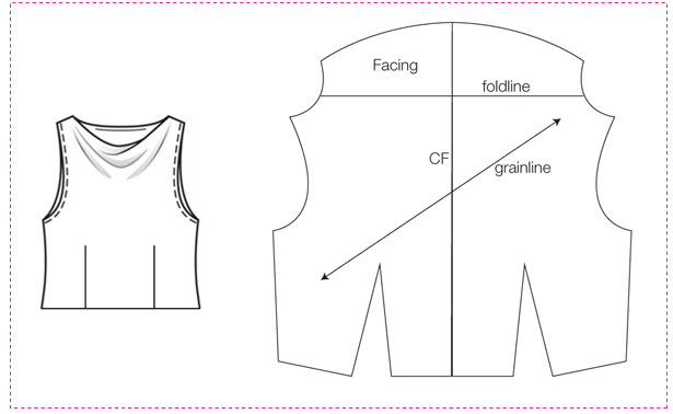 How To Draft A Cowl Neckline In One Minute