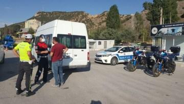 Jandarma ve Emniyetten ortak trafik denetimi