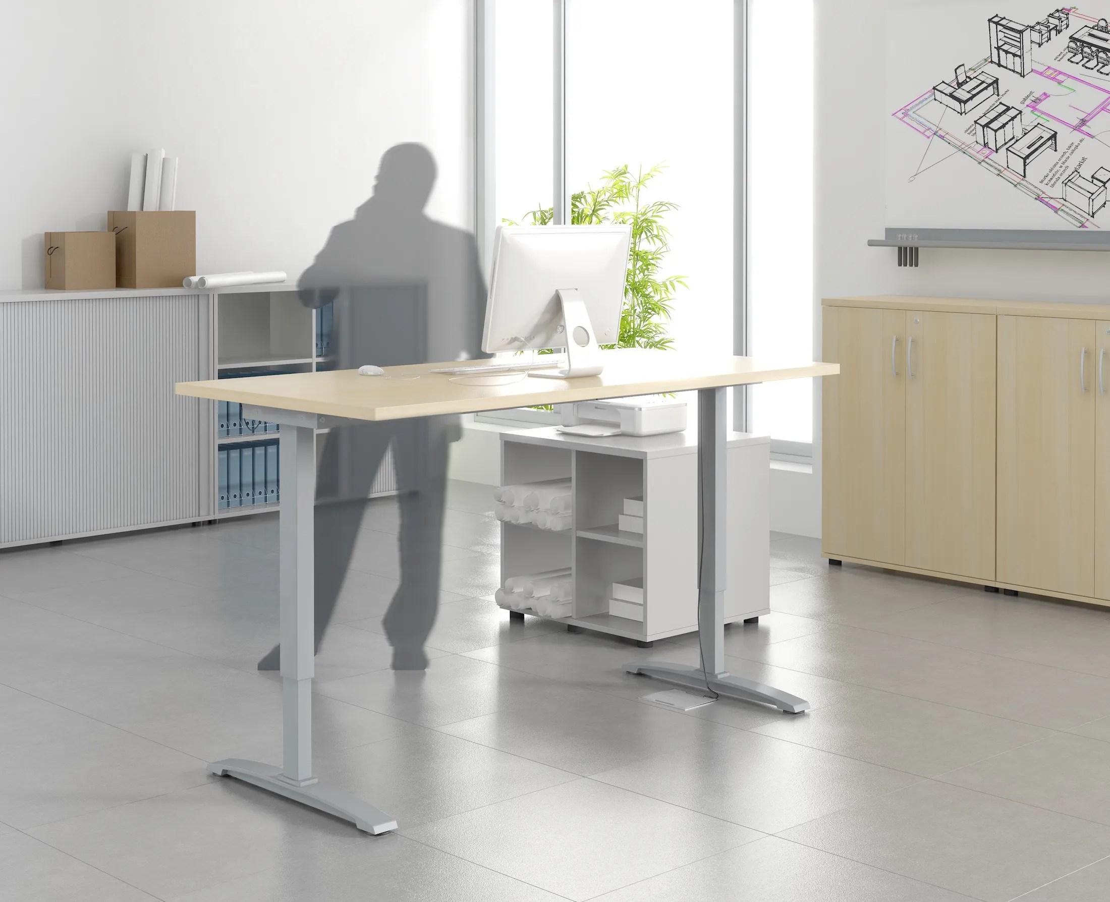 bureau individuel reglable en hauteur mdd bureaux reglables en ha