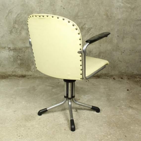 Gispen 354 bureaustoel wit kunstleer
