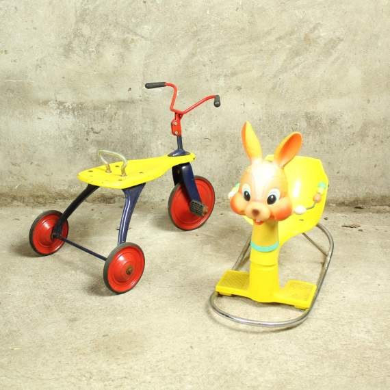 Vintage hobbelpaard konijn