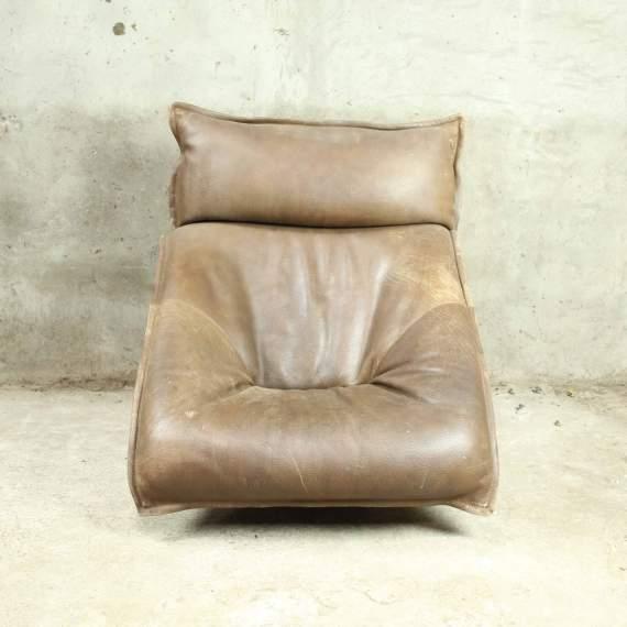 Vintage retro leren fauteuil mansave