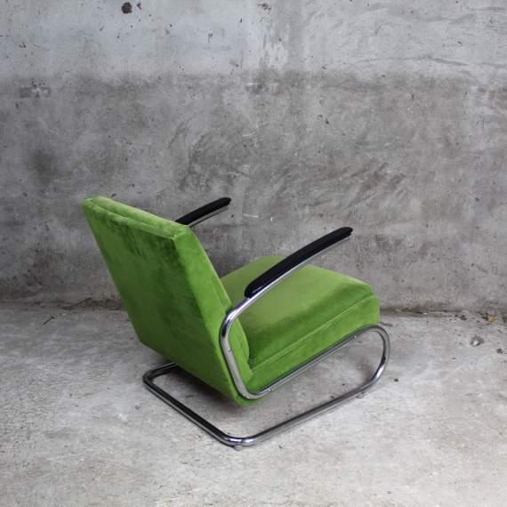 Mosgroene vintage K411 fauteuil chair Walter Knoll