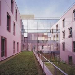 Patio, hôpital de Bailleul, pôle santé Sarthe et Loire, architectes: Jean Philippe Pargade, Gary Glaser