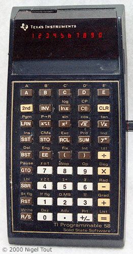 picture of TI-58