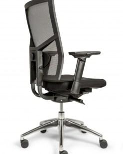 Bureaustoel Ergo 88 met Mesh rug en zachte comfort zitting stof zwart. Bureaustoelen MKB