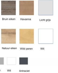 Poot / onderstel kleuren en blad afwerkingen. VD.