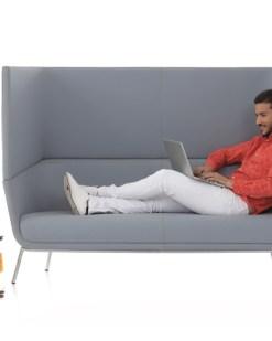 Positiva Couch, twee zitsbank met hoge rug, Bureaustoelen BKM